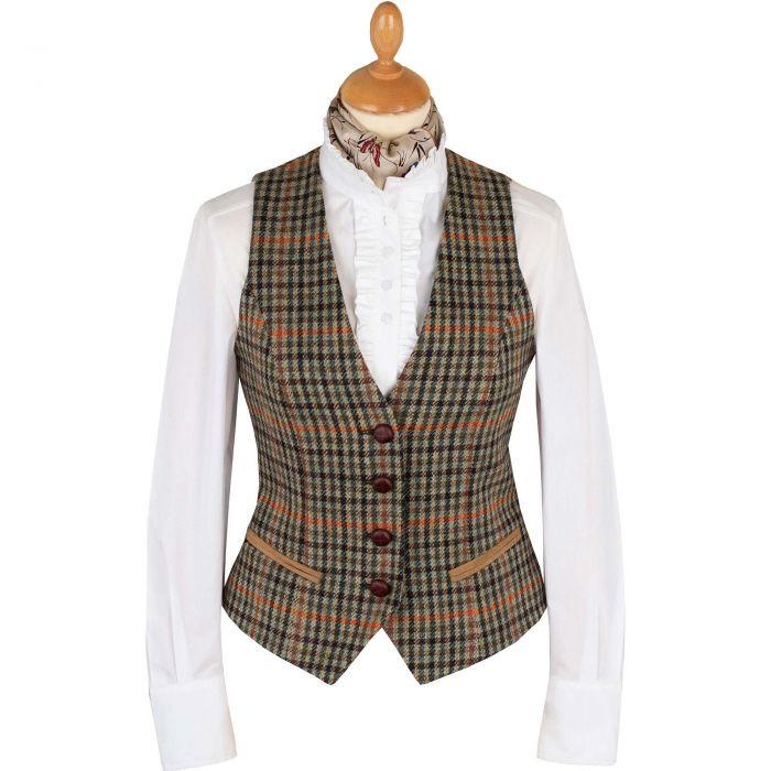 Templeton Check Tailored Tweed Waistcoat