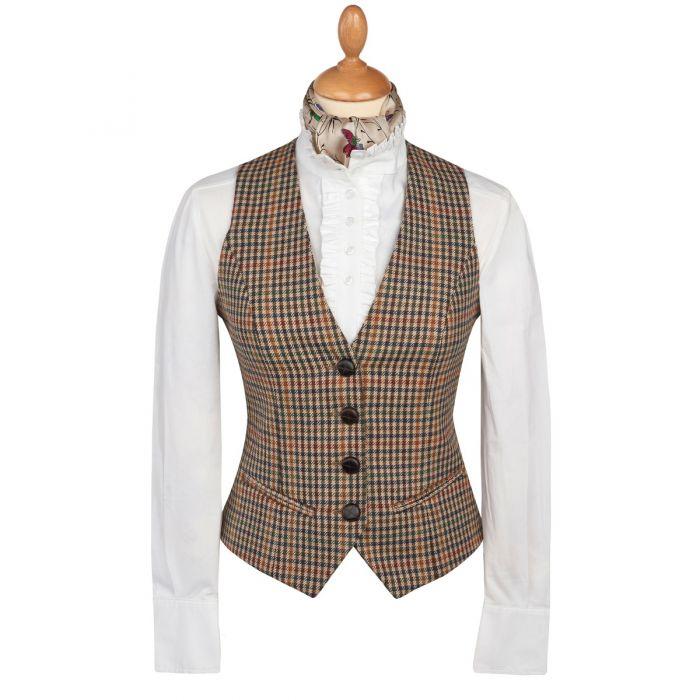 Wincanton Tweed Uncollared Waistcoat
