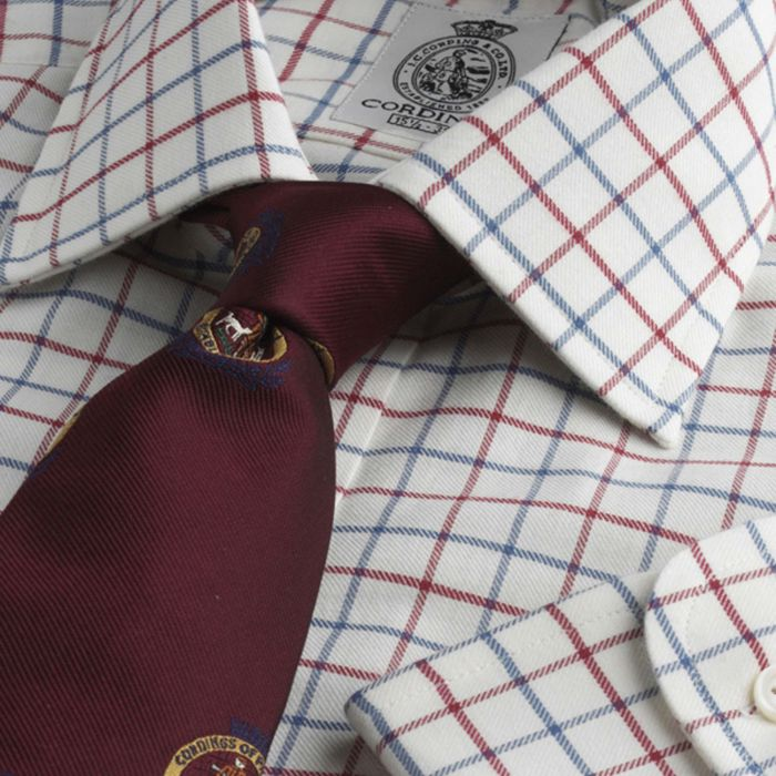 Red Blue Medium Tattersall Shirt