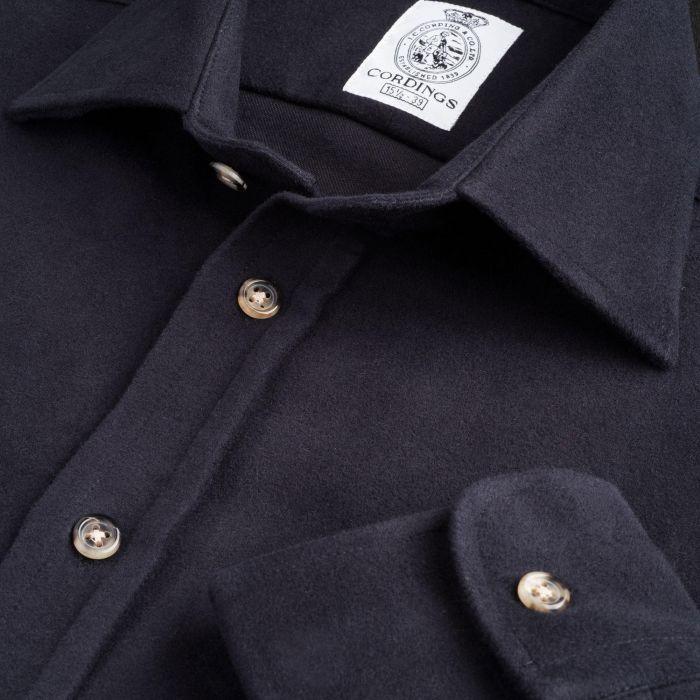Navy Linton Moleskin Shirt