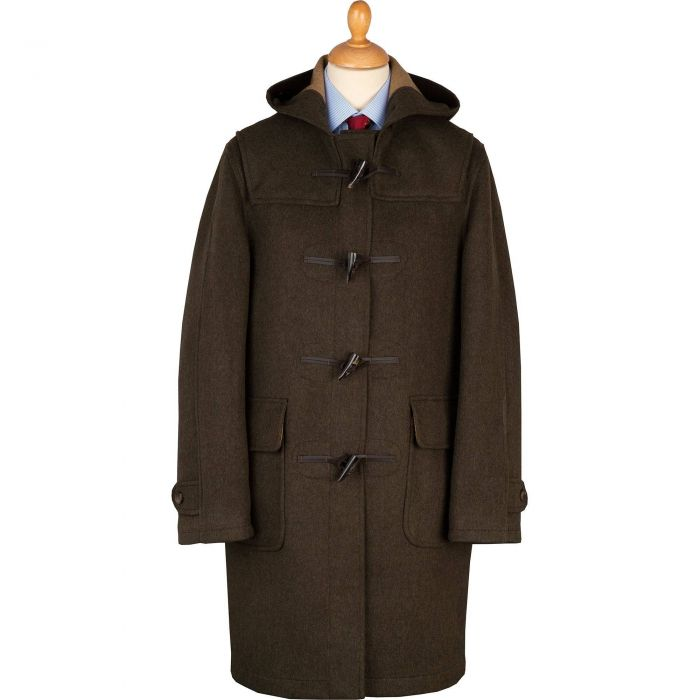 British Made Loden Duffle Coat
