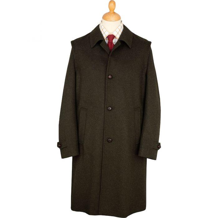 Green Loden Austrian Lined Hubertus Coat