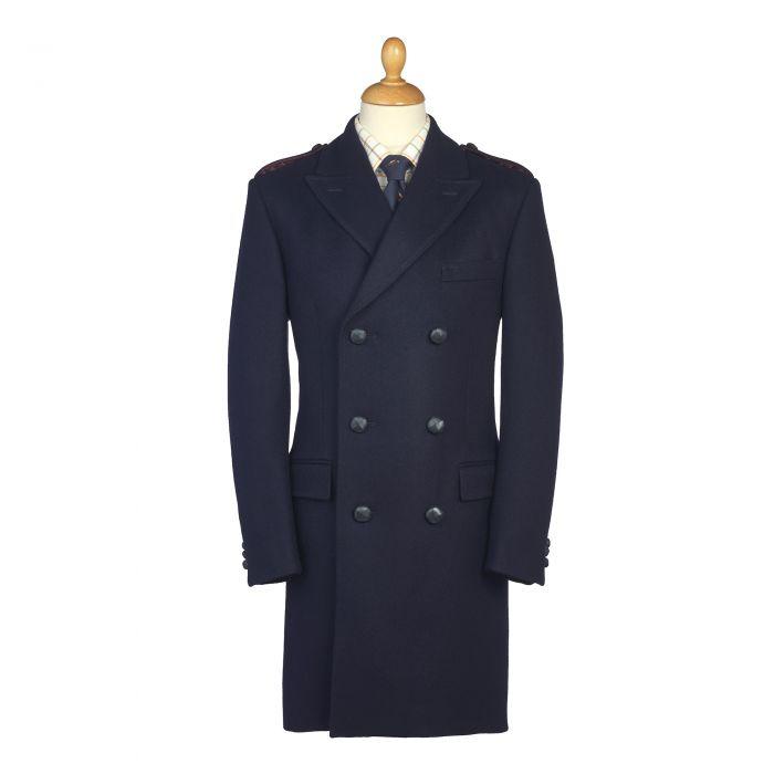 Navy British Warm Overcoat