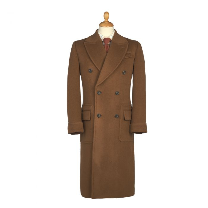 Chestnut Double Breasted Polo Coat