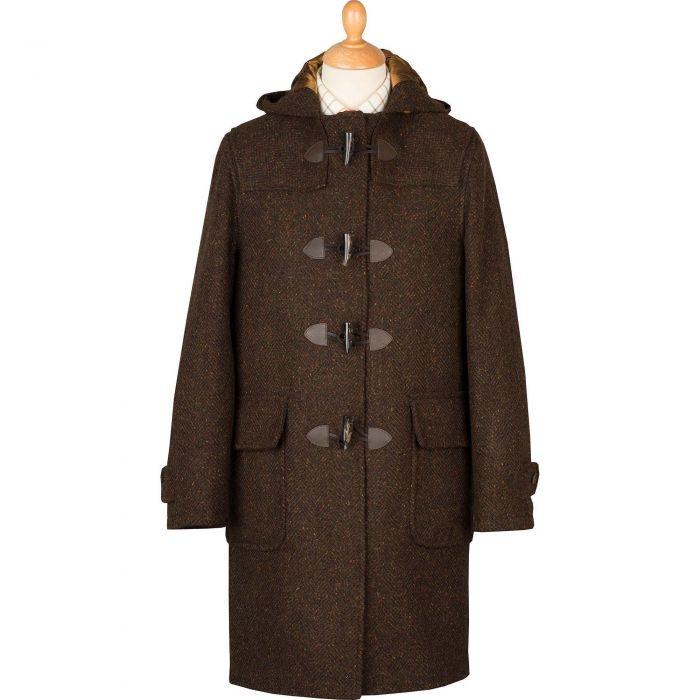 Brown Derry Donegal Tweed Duffle Coat