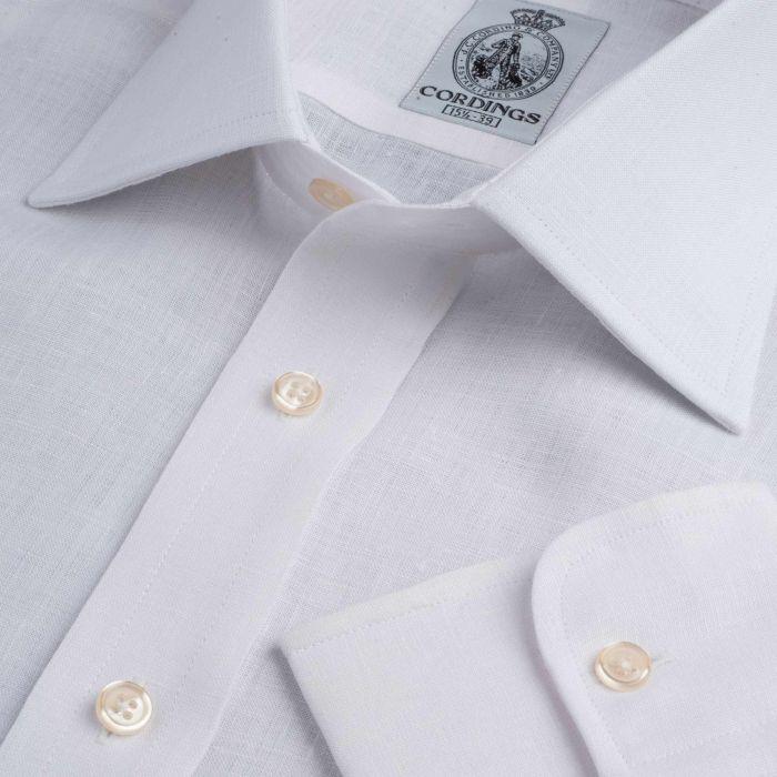 White Classic Linen Shirt