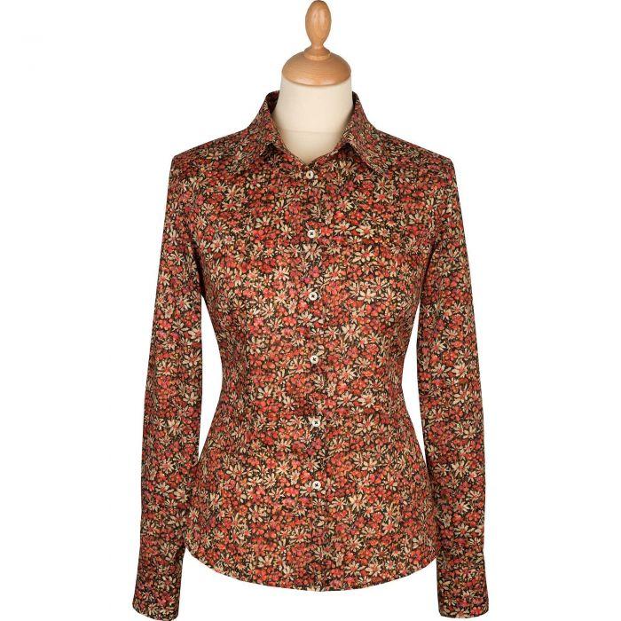Liberty Print Rust Eleanora Shirt