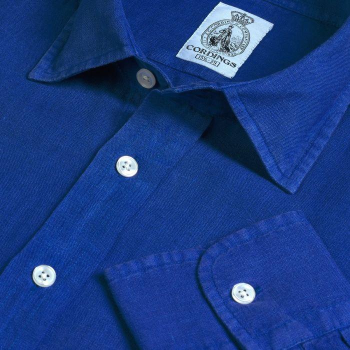 Cobalt Blue Vintage Linen Shirt