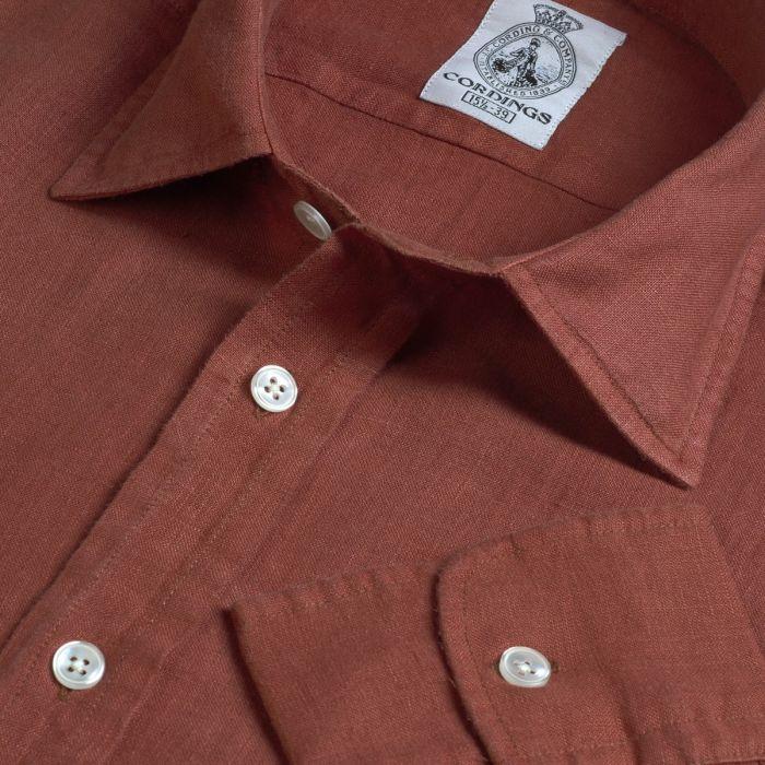 Rust Vintage Linen Shirt