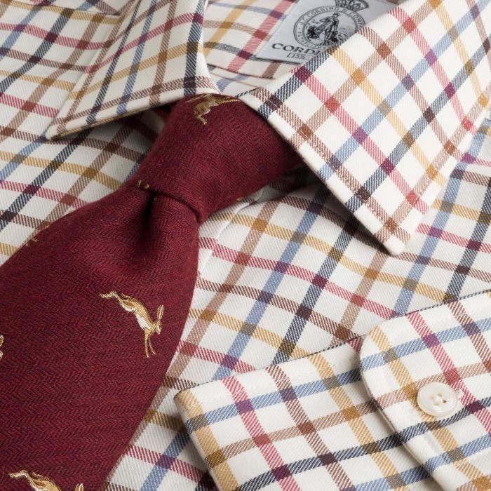 Navy Red Peter Check Tattersall Shirt