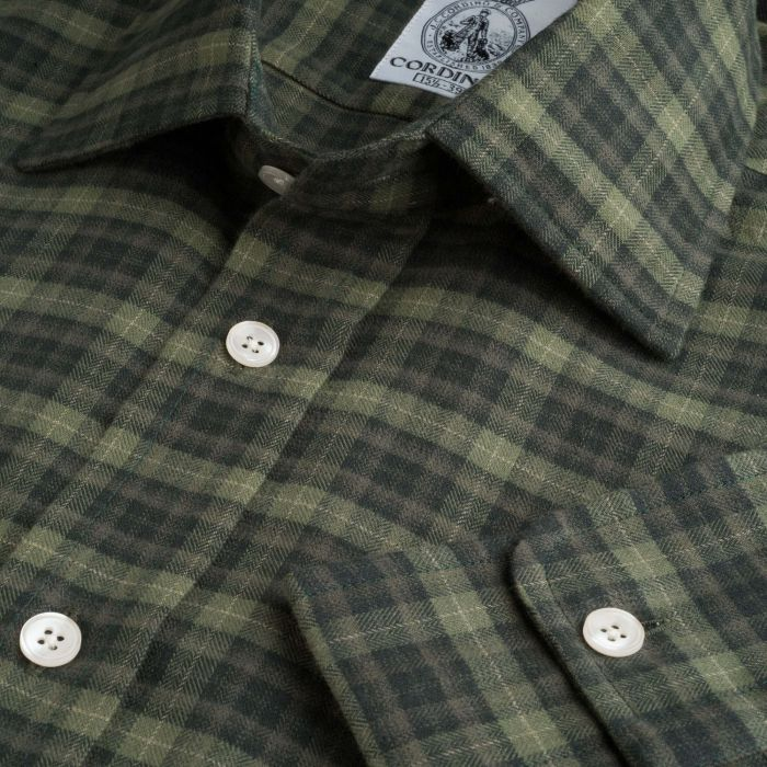 Green Olive Field Check Shirt
