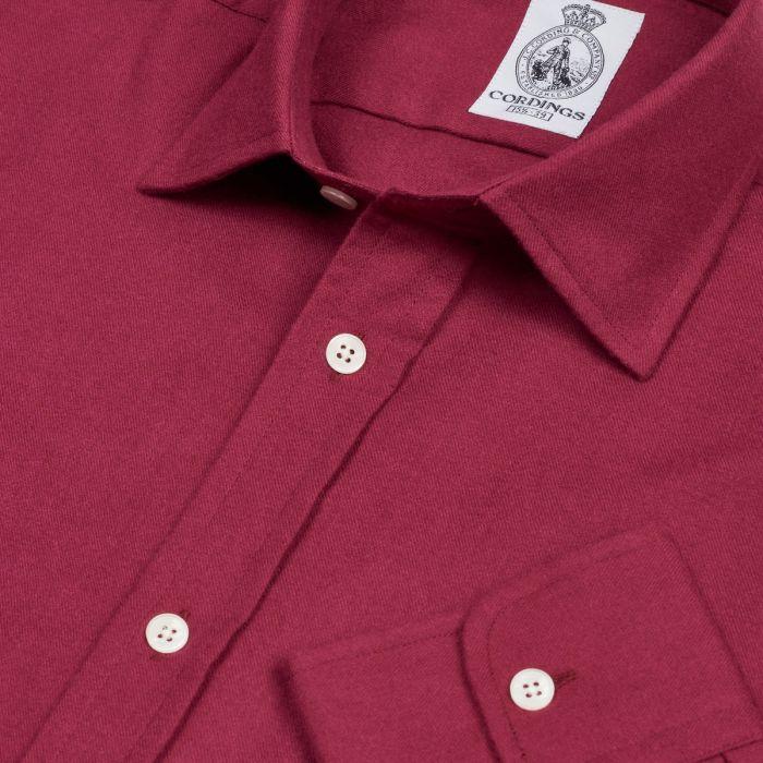 Burgundy Royal Brushed Shirt