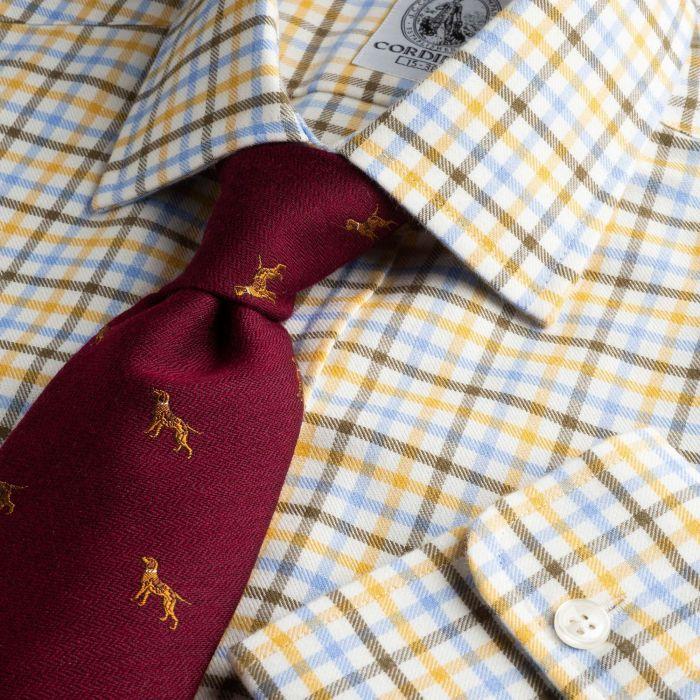 Brown Blue Spalding Check Shirt