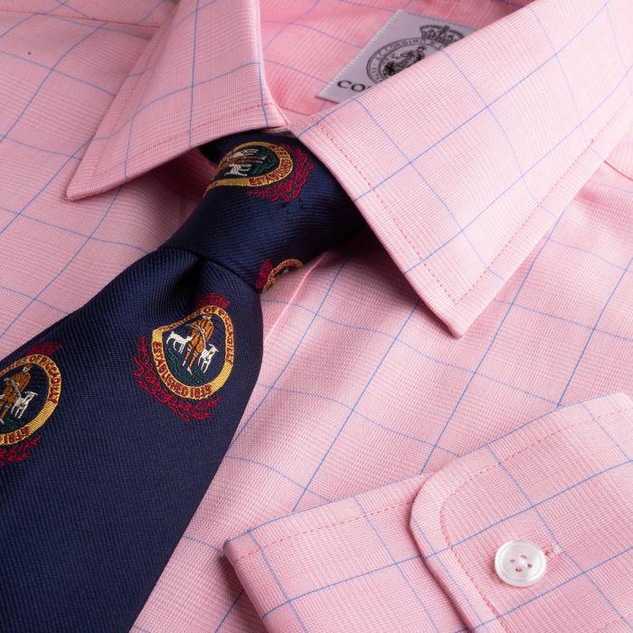 Pink Prince of Wales Poplin Check Shirt