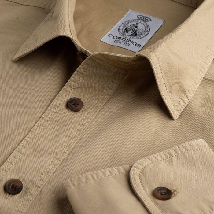 Stone Khaki Cotton Kalahari Safari Shirt