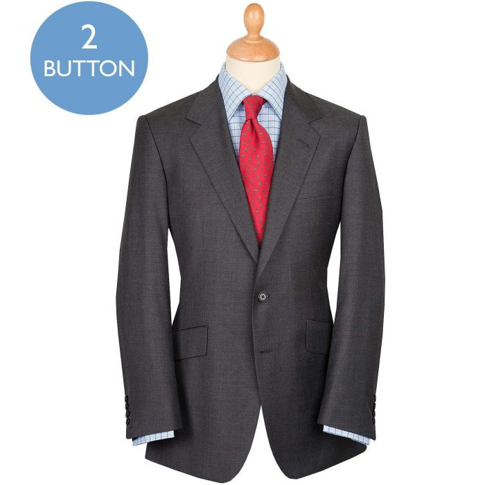 Mid Grey 10oz Two Button Sharkskin Suit