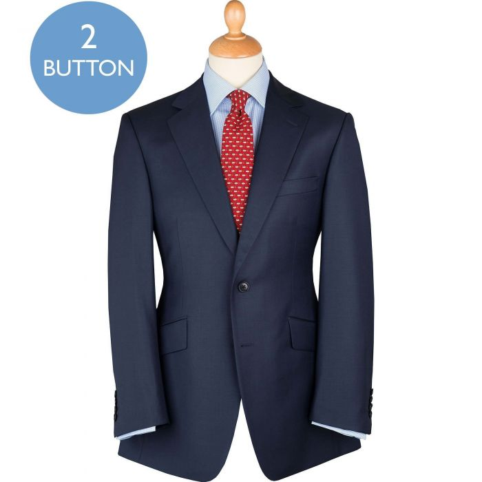 Navy 10oz Two Button Sharkskin Suit