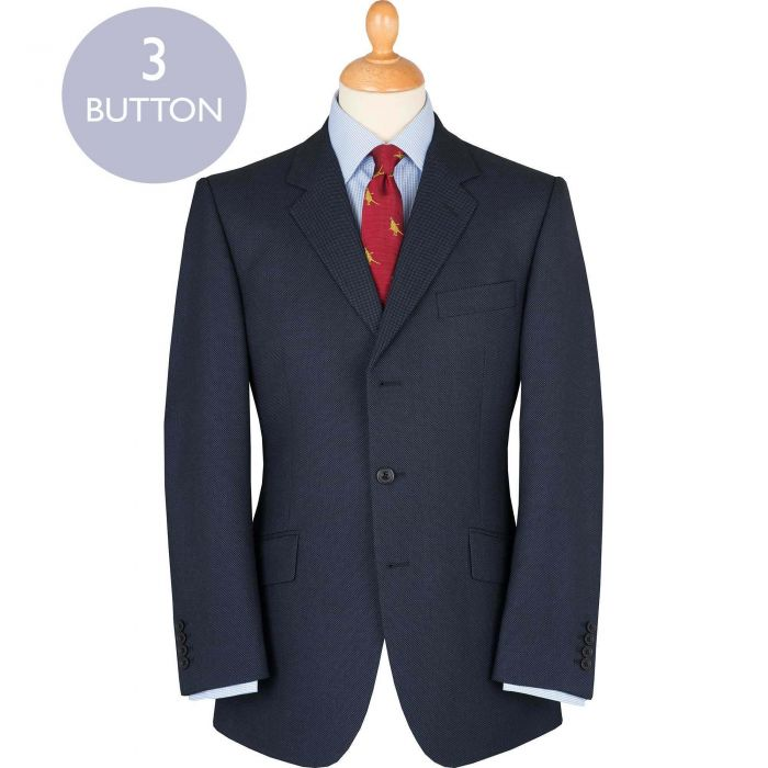 Blue 14oz Birdseye Three Button Suit