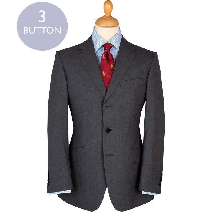 Grey 9oz Gregor Three Button Suit