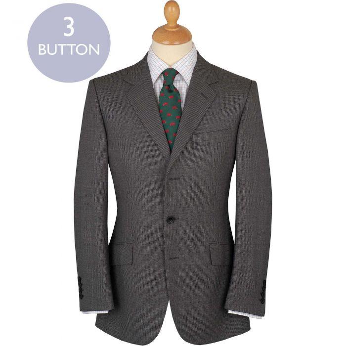 Light Grey 10oz Three Button Birdseye Super 120's Suit