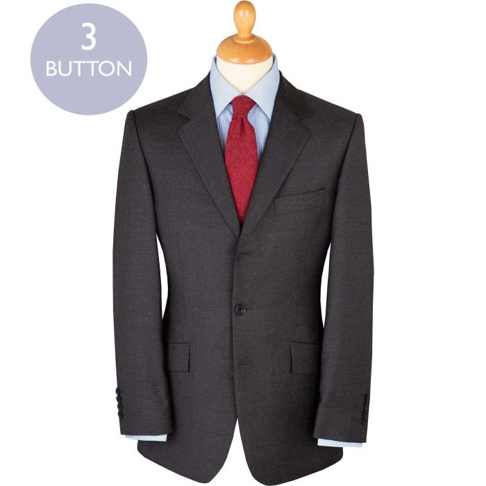 Grey10oz Three Button Worsted Twill Suit