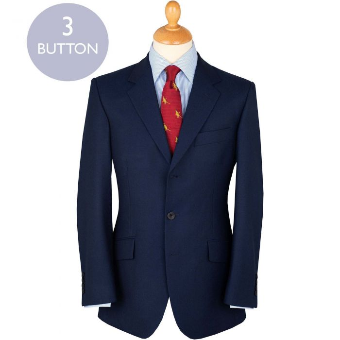 Navy 10oz Three Button Worsted Twill Suit