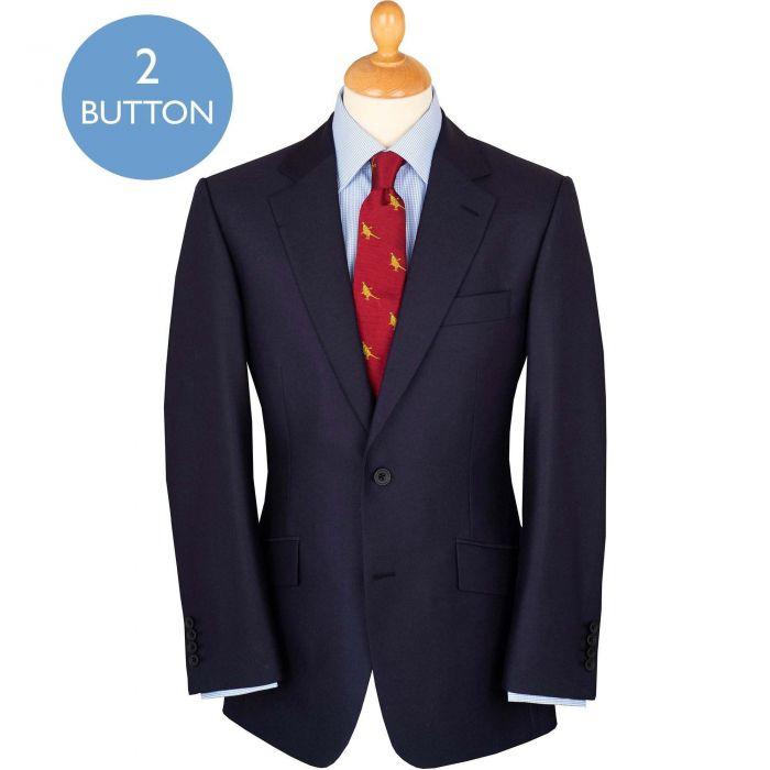 Navy 13oz Two Button Barathea Suit
