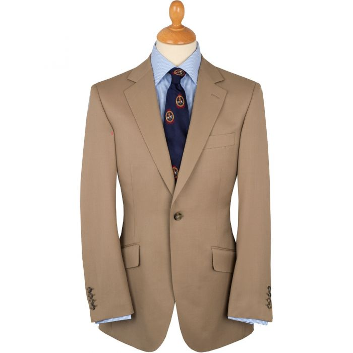 Khaki 8oz Single Button Gabardine Perry Suit