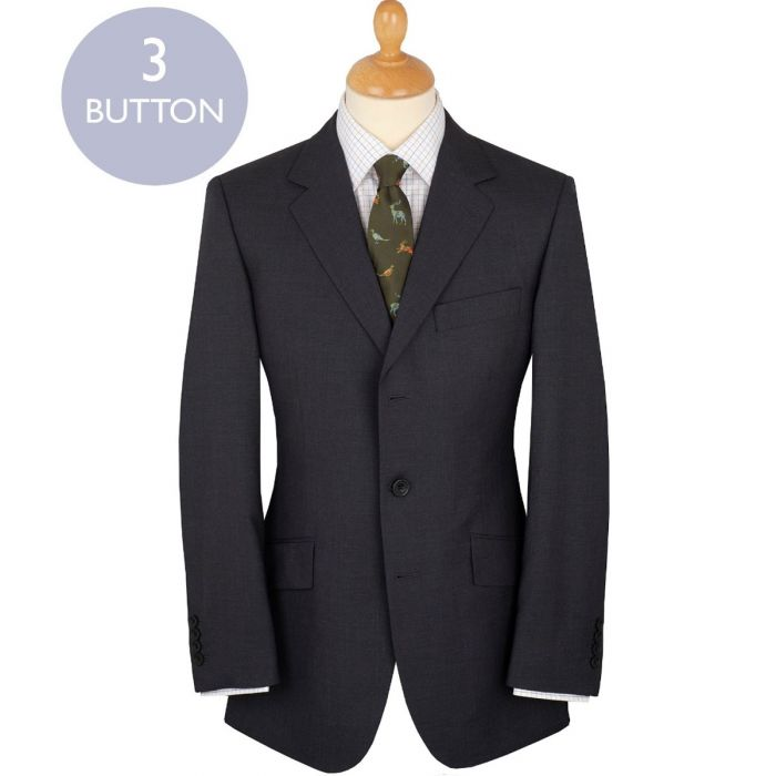 Grey 8oz Three Button Bower Mohair Suit
