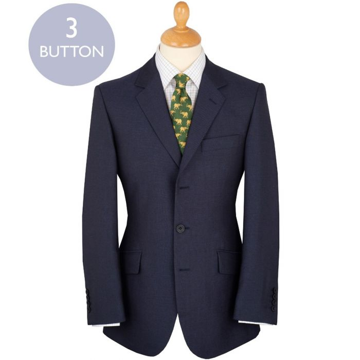 Navy 11oz Three Button Mohair William Suit