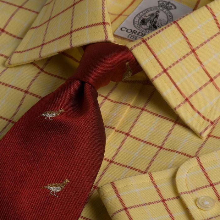 Yellow and Red Check Medium Tattersall Shirt