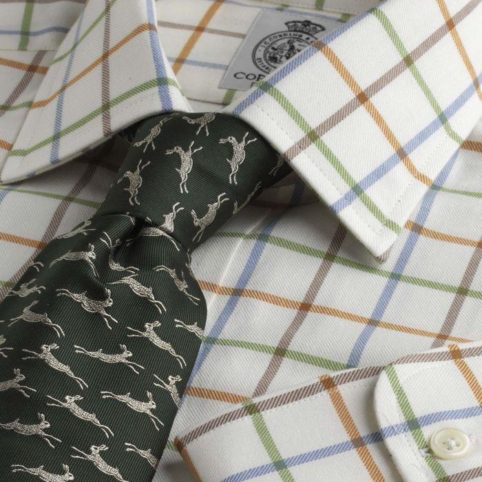 Pale Blue Large Overcheck Tattersall Shirt