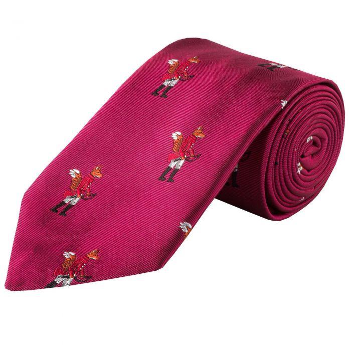 Pink Hunting Fox Silk Tie