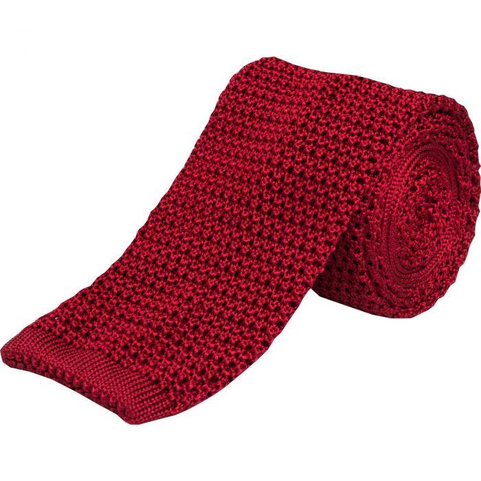 Wine Heavy Silk Knitted Tie
