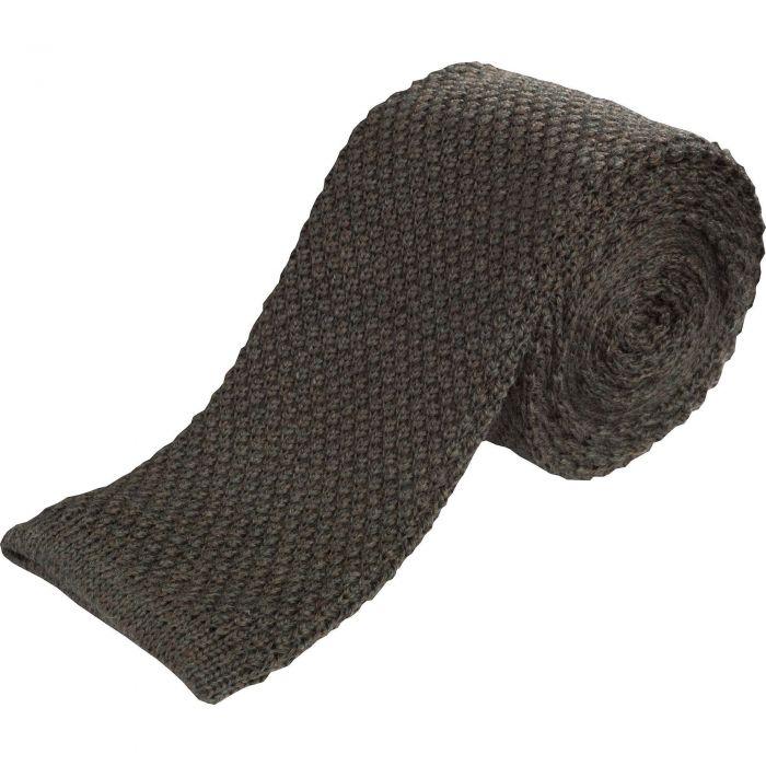 Loden Merino Knitted Tie