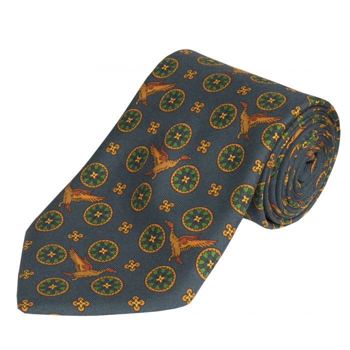 Blue Flying Duck Madder Silk Tie