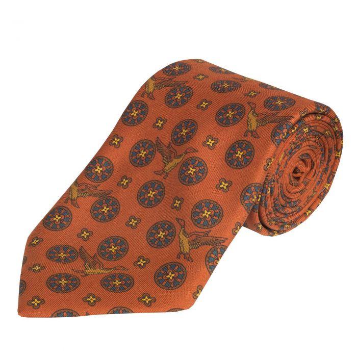 Copper Flying Duck Madder Silk Tie