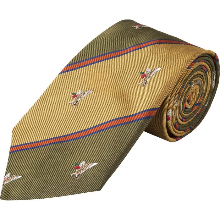 Gold Duck Club Woven Silk Tie