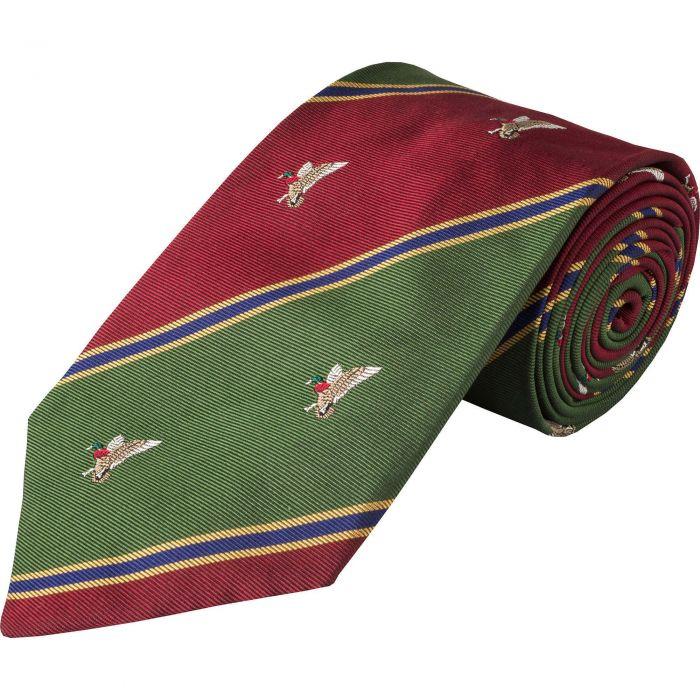 Wine Duck Club Woven Silk Tie