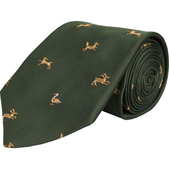 Olive Shooting School Silk Tie