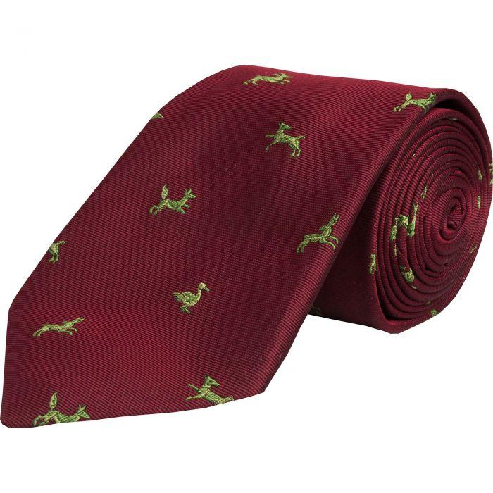 Wine Shooting School Silk Tie