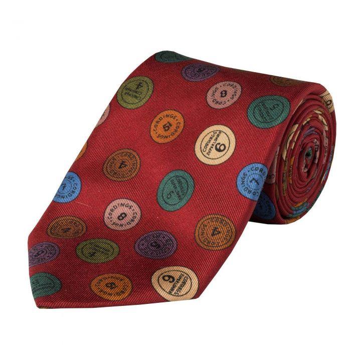 Burgundy 36oz Cartridge Cap Silk Tie