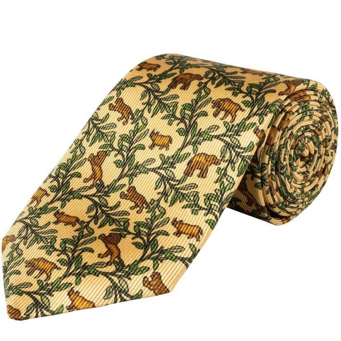 Cream Big 5 Silk Foulard 36oz Tie