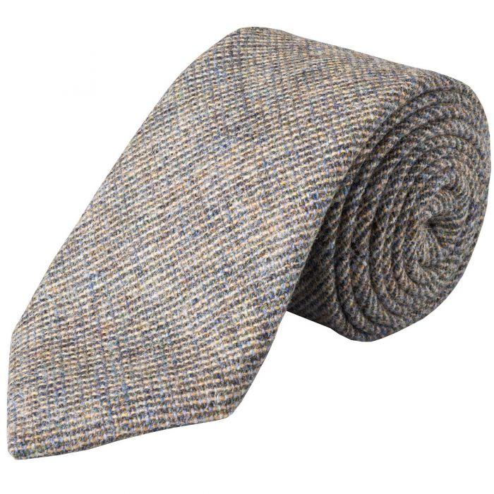 Blue Slate Country Tweed Wool Tie