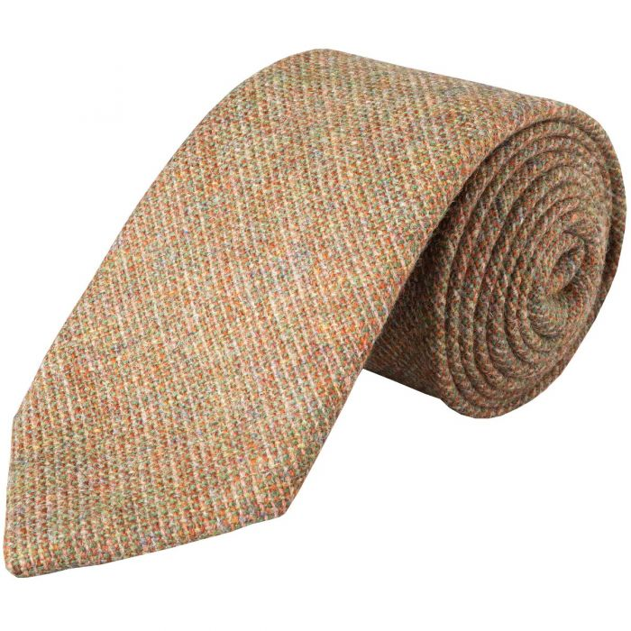 Red and Green Country Tweed Wool Tie