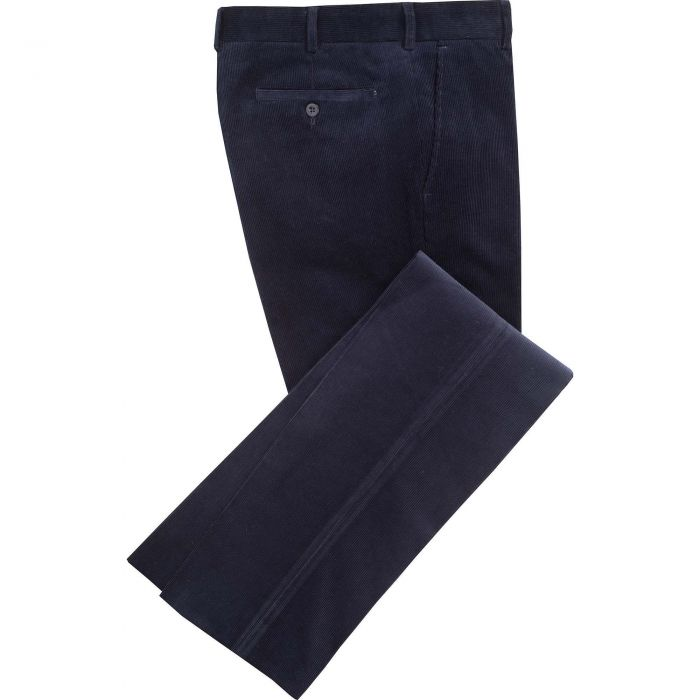 Navy Blue Needlecord Trousers