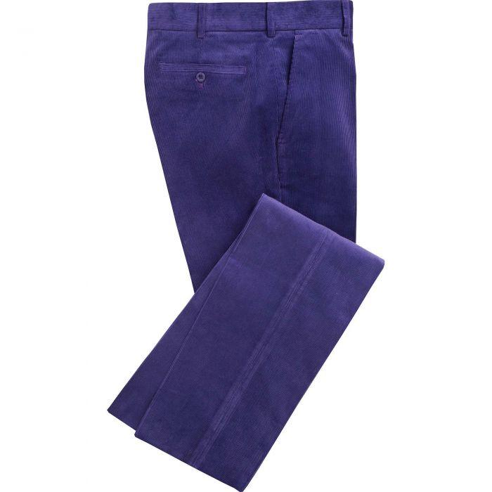 Purple Needlecord Trousers