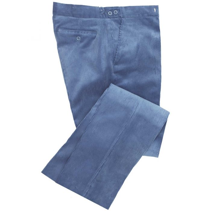 Mid Blue Corduroy Trousers