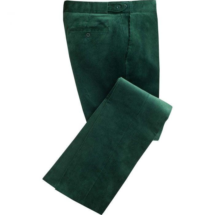 Bottle Green Corduroy Trousers