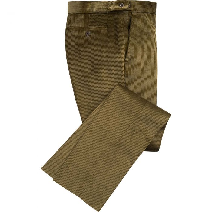 Moss Green Corduroy Trousers